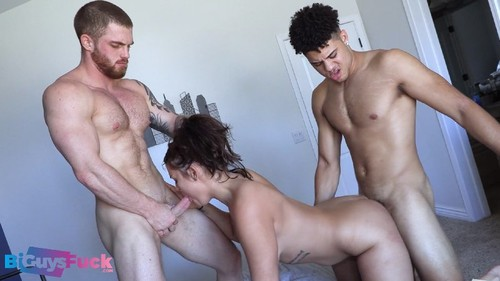 BiGuysFuck - Best friends Channing Rodd and Dustin Hazel DP a THICC white Girl!! (Sofia Santana)