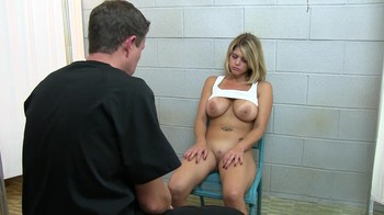 Mind control of a blonde on a chair