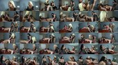 Double Pegging Office Work - Brittany Andrews, Whitney Wright and Tony Orlando