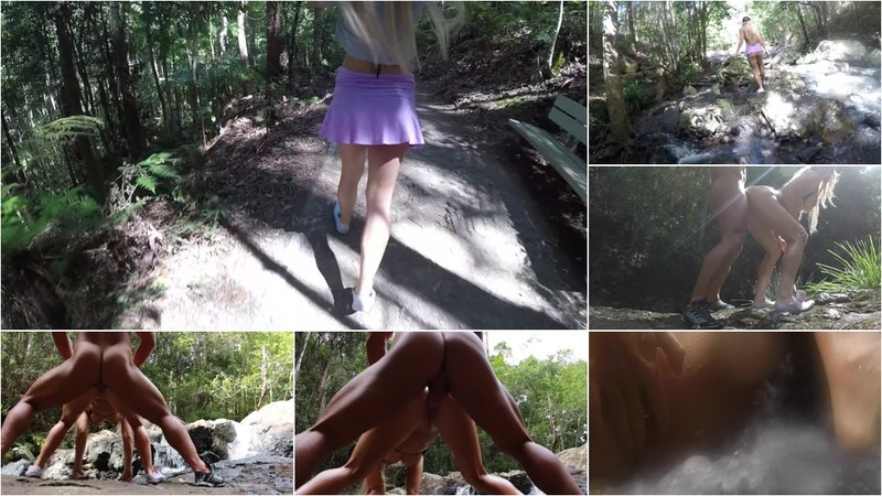 SecretCrush - Risky Flashing in Busy Crowded Public & Waterfalls Pussy Fuck [FullHD 1080P]