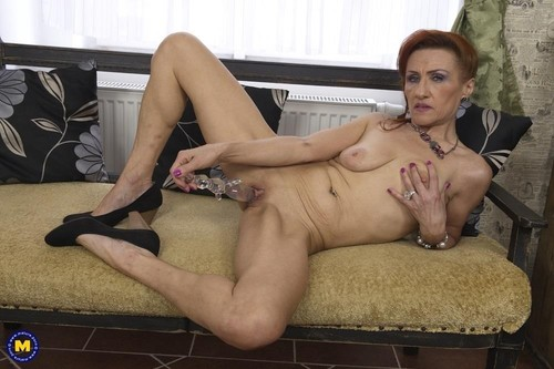 """Emelia in """"Horny Mature Housewife Enjoys Her Dildo And Makes Her Pussy Squirt"""" [HD]"""