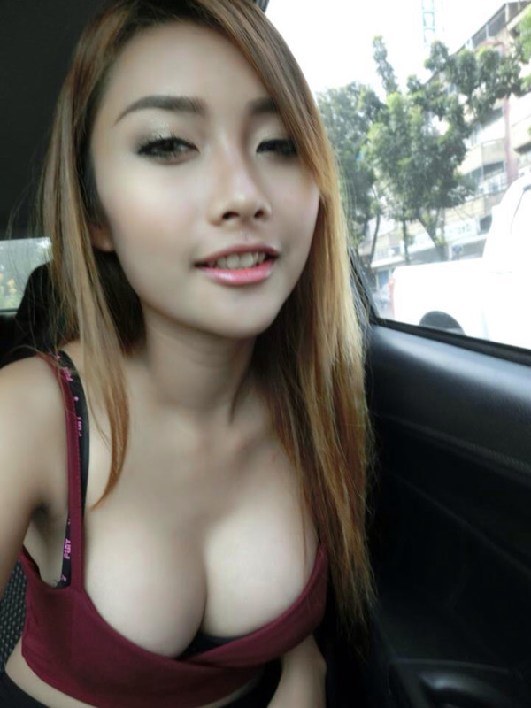 busty cleavage