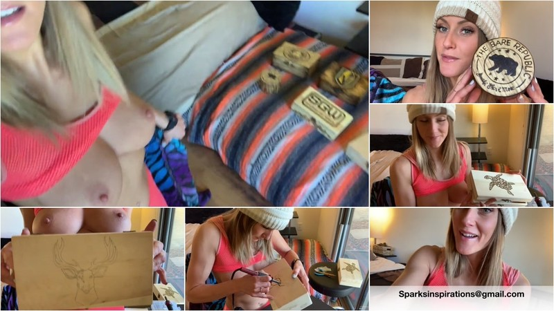 SparksGoWild - Miss Stacy Shows off her Woodburning Art¡ (1080P/mp4/174 MB/FullHD)