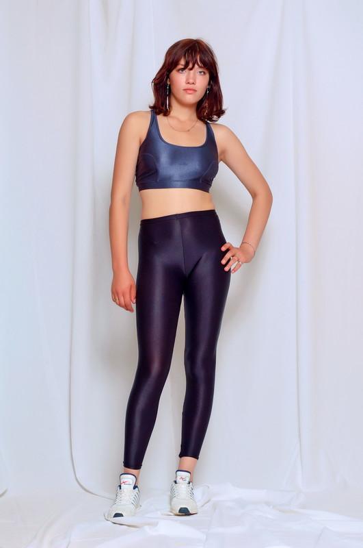 fitness instructor Nadya in candid sportswear