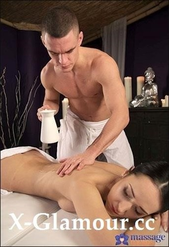 Angie Moon - Dark Haired Babe On Massage Table [SD/480p]