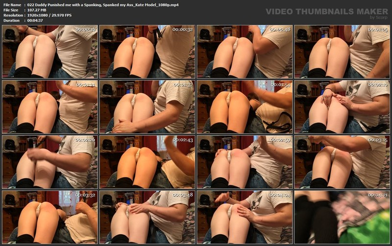 022 Daddy Punished me with a Spanking, Spanked my Ass_Kate Model_1080p