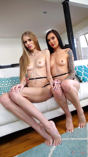 LegalPorno - LP EXCLUSIVE: Marley Brinx & Kyaa Chimera 2on2 anal adventures with BBC and foot fetish (0% pussy) AX003