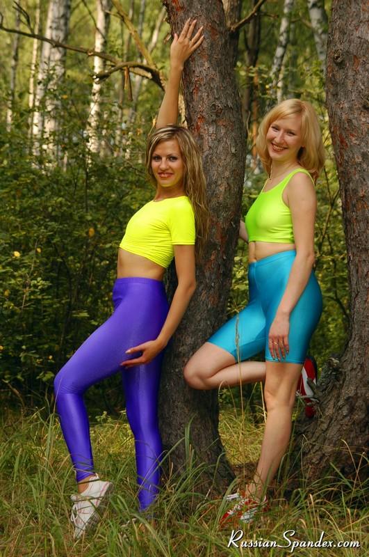 russian lesbian girls in yoga uniforms