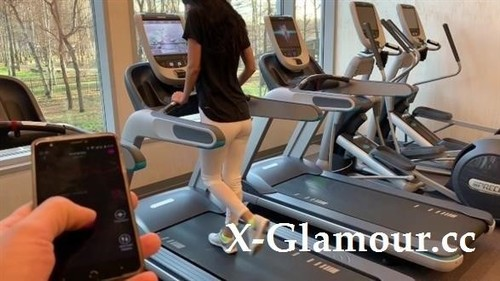 Horny69Rabbits - Public Masturbation With Lovense Lush Part 3. During Fitness In The Gym [FullHD/1080p]