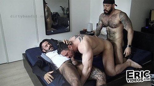 EricVideos - On All Fours He's Waiting For 2 Big Cocks: Gabriel, Julian Torres, Teddy Torres Bareback