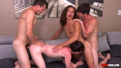 ColbyKnox - Hot 4-Way With Jack Valor & Levi Hatter Bareback (Sep 6)