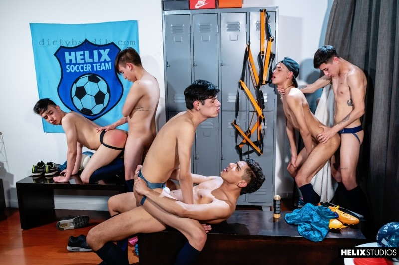 Helix - Helix Soccer Team Ep. 6 Locker Room Party Bareback (Nov 18)