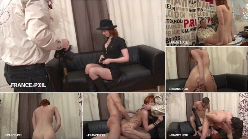 Enora Hardesya - Sexy young redhead mounts huge cock in casting call [HD 720P]