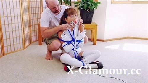White Pvc Crossed Arms Tie [FullHD]