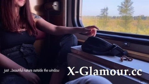 LeoKleo - Blowjob And Sex On The Train From A Girl In The Carriage With Conversations. Leokleo