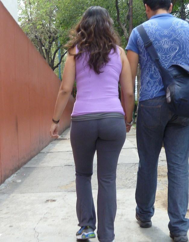 pretty hispanic wife in yogapants