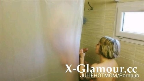 Juliehotmom - Stepmom Shower 1 - Badly Fucked By My Father, My Mother Sucks Me In Shower (HD)