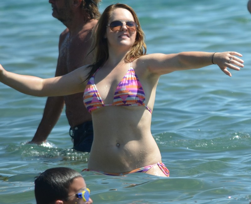 football girl in candid bikini