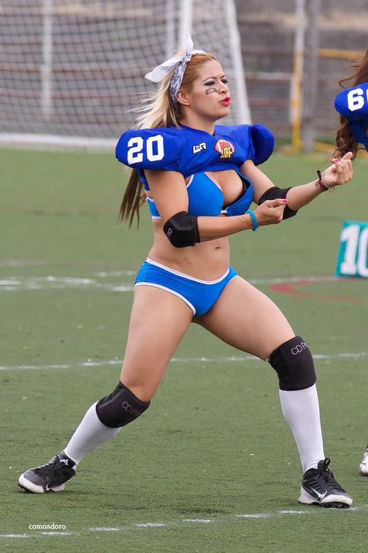 mexican football babe in sexy blue bikini