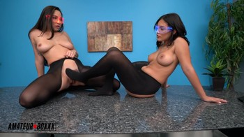 Boss gains mind control over two sexy secretaries with experimental glasses