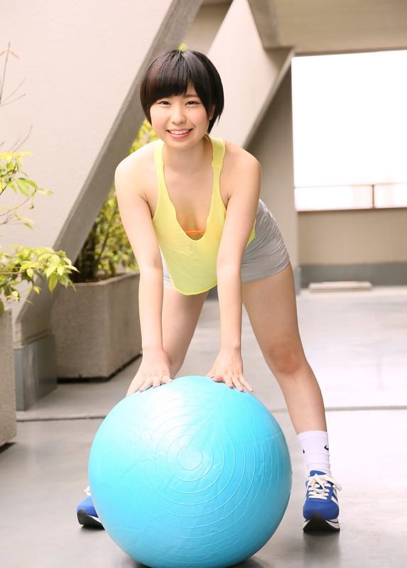 japan teen Mahiru Asahi fitness cosplay pics