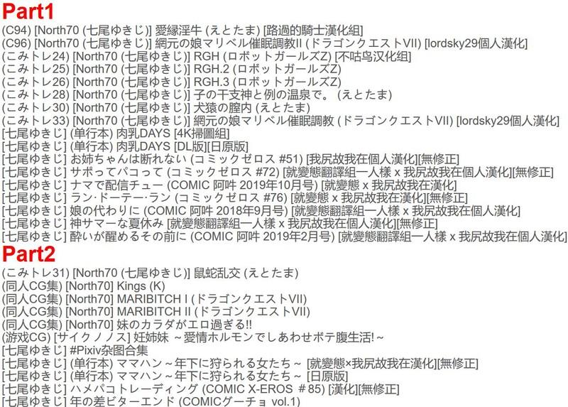 [210322]【合集】[七尾ゆきじ] <28本合集> [3.11G/无修/单行/DQ/汉化]