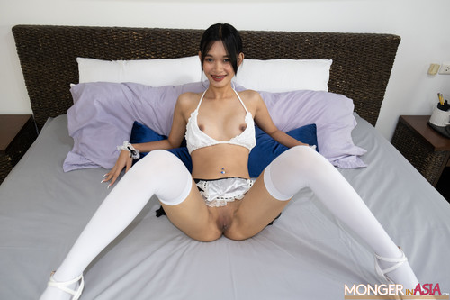 Mongerinasia - Bussaba -   Stunning Thai Teen Knocked Up on First Day of Work! new 2021 720