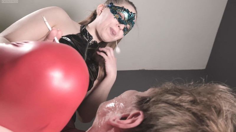 Mistress Dominates Feet In Your Mouth Drooling Falls On Your Face [FullHD 1080P]