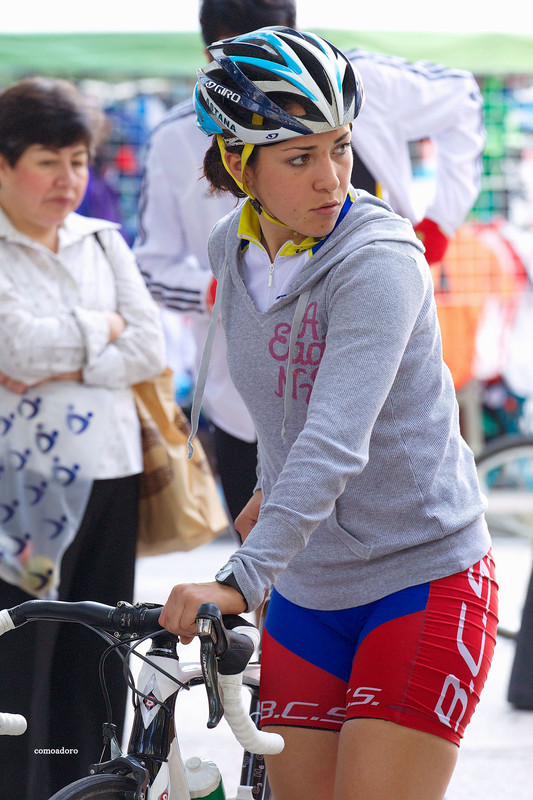lovely bicycle girls in tight spandex