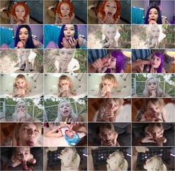 Karneli Bandi - Oral cumshot compilation on face with Karneli Bandi (Porn) HD 720p