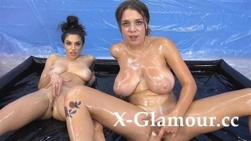 Lesbian Oil Wrestle With Darcie And Gabbie [FullHD]