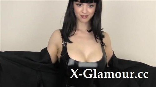 Amateurs - Cute Brunette With Big Tits In A Leather Outfit (HD)