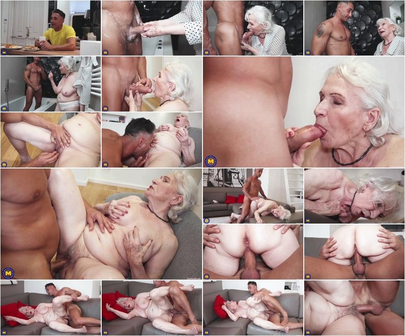 Maria - 87) - Granny next door is washing up her muscled younger friend (1064p)