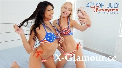 Fourth Of July Threesome With Stepsis [HD]