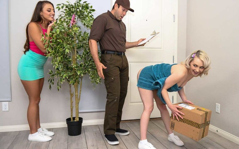 Gia Derza, Ava Sinclaire - Pranks For A Big Ass Package [FullHD 1080P]