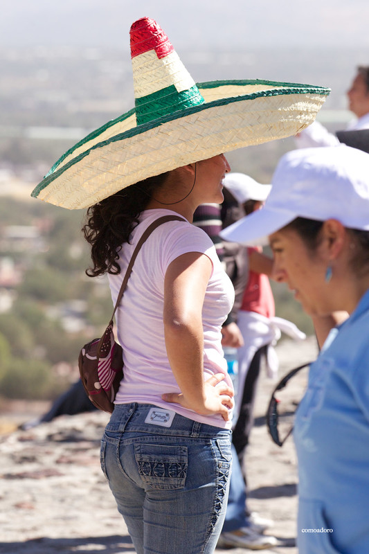 mexican tourist lady in sexy jeans