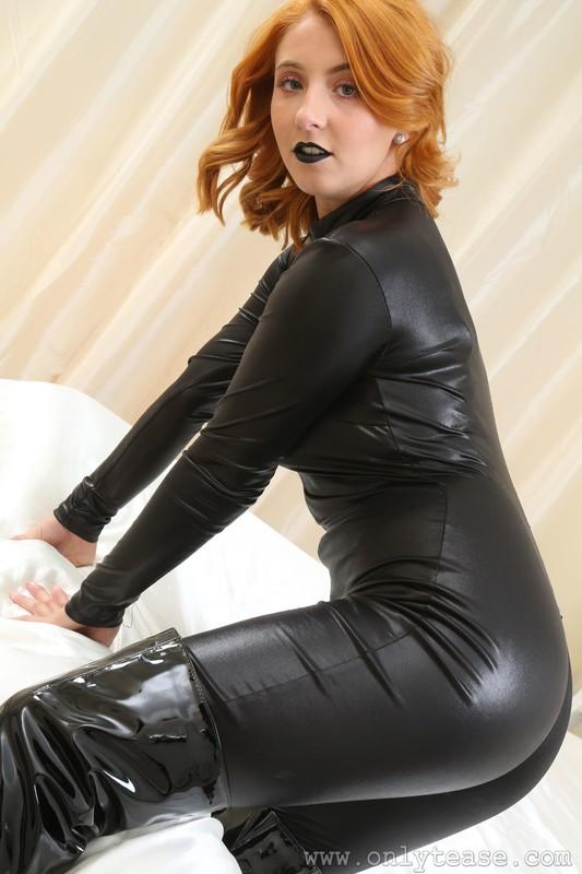 blonde dominatrix Robyn J in bdsm uniform