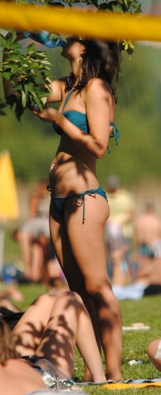 city park girls in candid bikini
