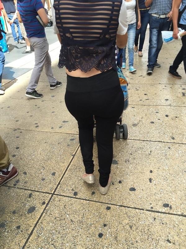 lovely milf booty in tight black pants