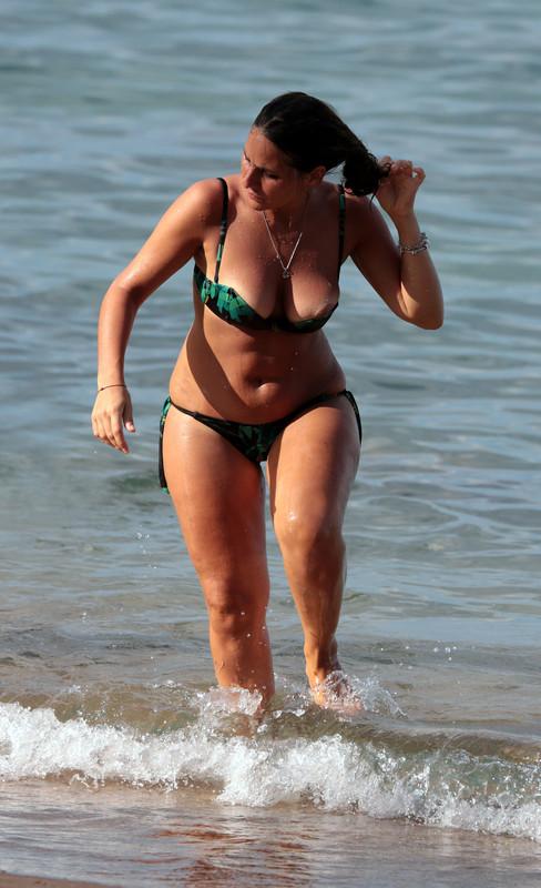 lovely milf in green bikini