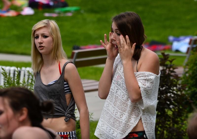city park girls in bikinis