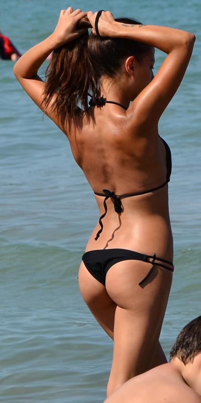 lovely wife in black bikini