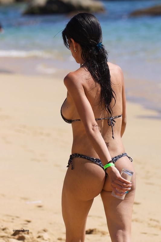 latina hottie in leopard print bikini
