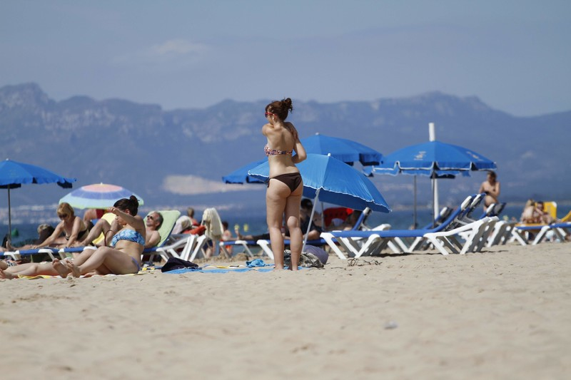 nice girl in amazing bikini