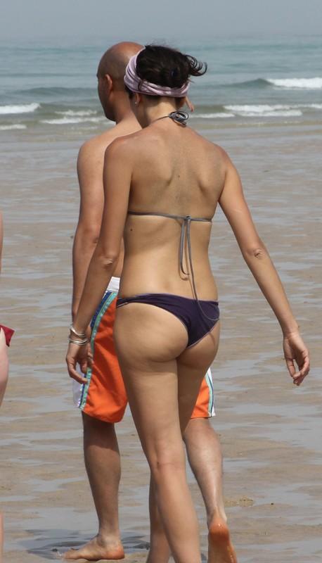 slim milf in thong bikini