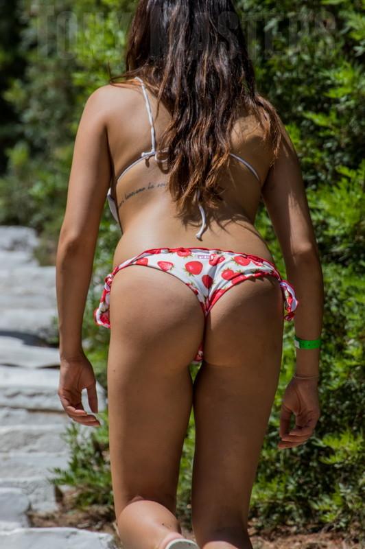 spanish booty in thong-like bikini