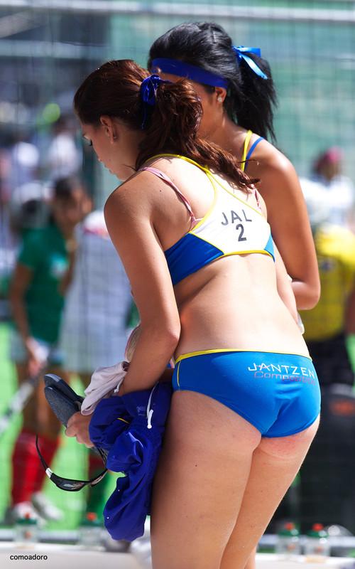 volleyball women in candid bikinis