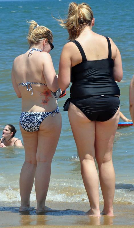 bikini booty on the beach