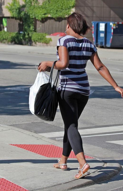 handsome ebony teen in leggings