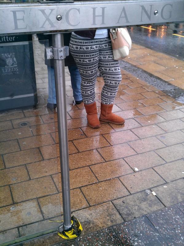 pretty milf in reindeer leggings & ugg boots
